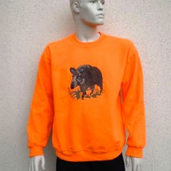 Sweat-shirt homme orange
