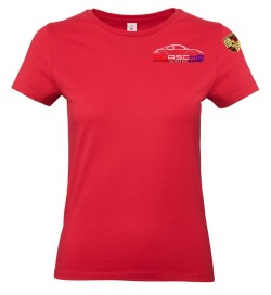 T-shirt col rond PEA Femme - Rouge