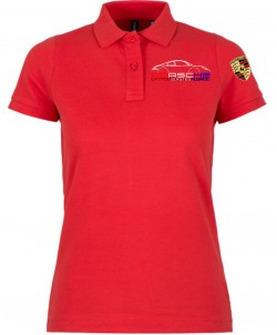 Polo Manches Courtes PEA Femme - Rouge