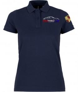 Polo Manches Courtes PEA Femme - Navy
