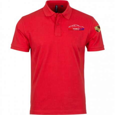 Polo Manches Courtes PEA Homme - Rouge