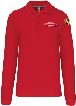 Polo Manches Longues PEA Homme - Rouge