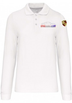 Polo Manches Longues PEA Homme - Blanc