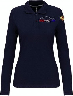 Polo Manches Longues PEA Femme - Navy