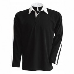 Polo type rugby noir