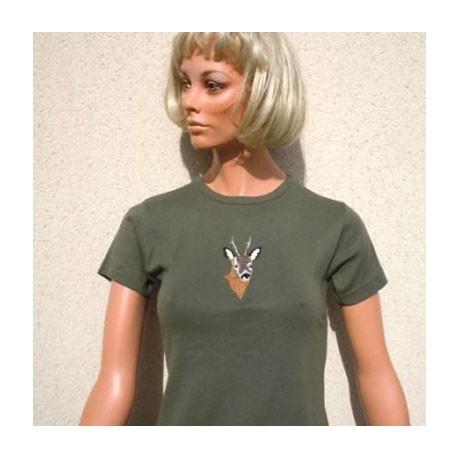 Tee-shirt femme kaki