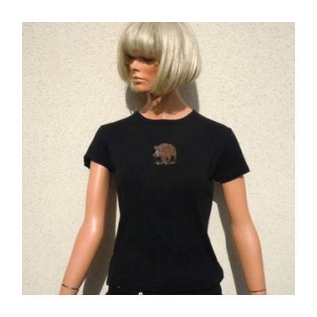 Tee-shirt femme noir